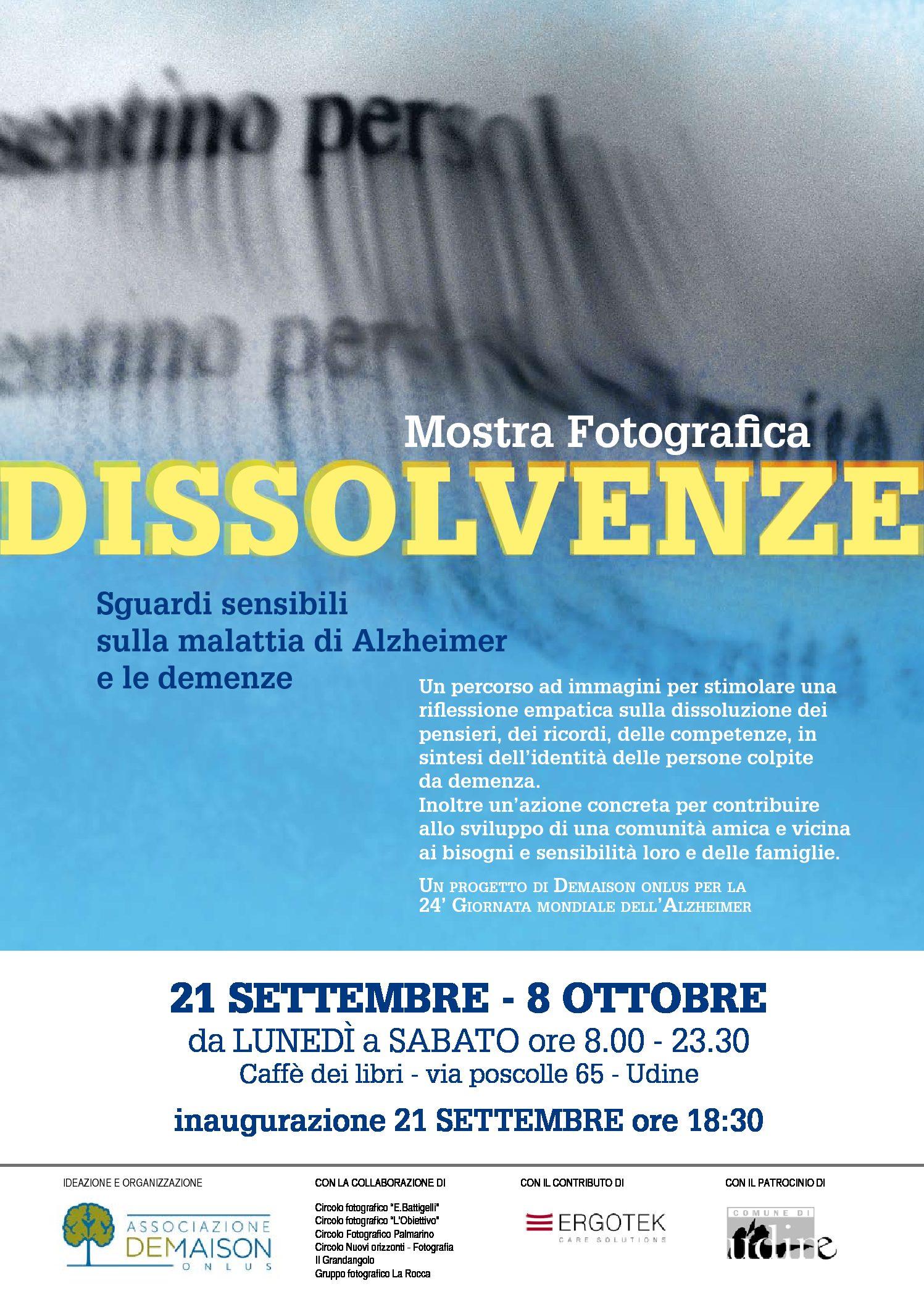 Dissolvenze, sguardi sensibili sulla malattia di Alzheimer e le demenze