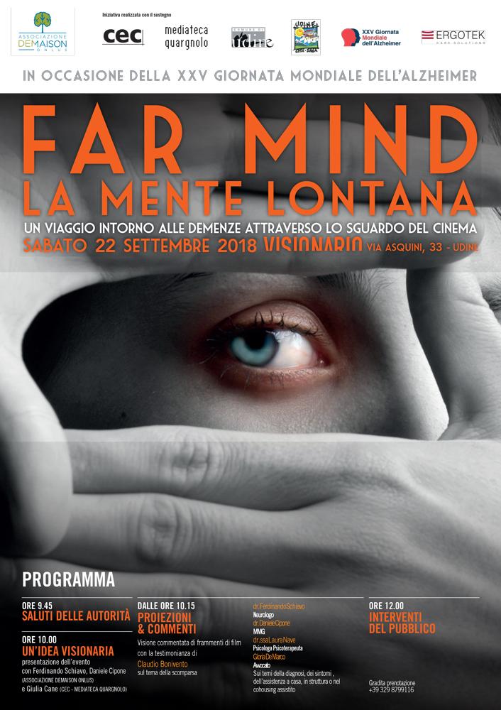 Far Mind 2018, un viaggio intorno alle demenze attraverso lo sguardo del cinema